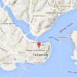 Isztambul nevezetességeinek térképe